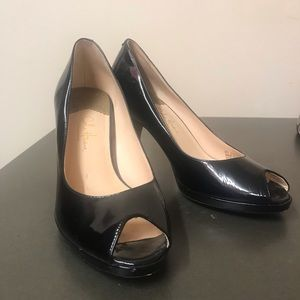 Cole Haan Nike Air peep toe patent leather pumps